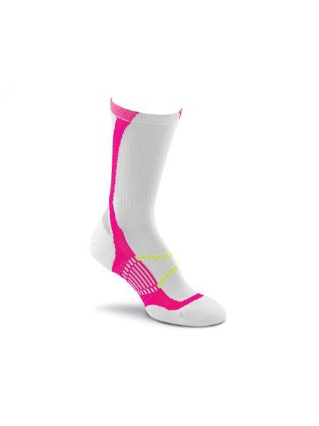 Розовые нейлоновые спортивные компрессионные носки высокие Foxriver