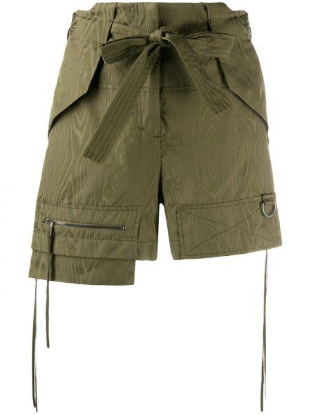 Однобортные зеленые спортивные шорты с карманами Dorothee Schumacher