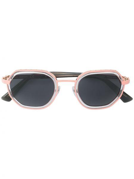 Прямые фиолетовые солнцезащитные очки квадратные металлические Diesel