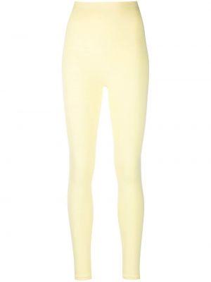 Żółte spodnie z printem Maison Lejaby