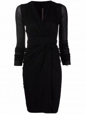Черное платье макси с запахом с вырезом Rick Owens Lilies