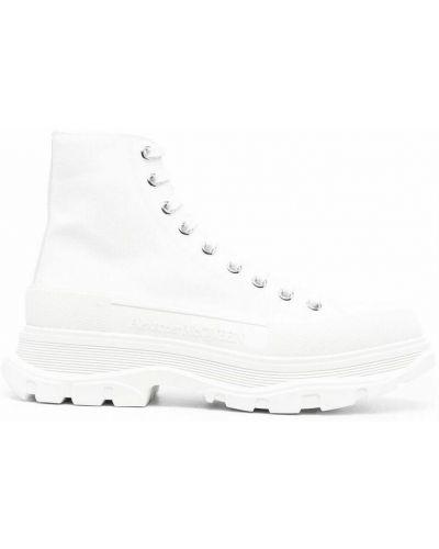 Ankle boots - białe Alexander Mcqueen