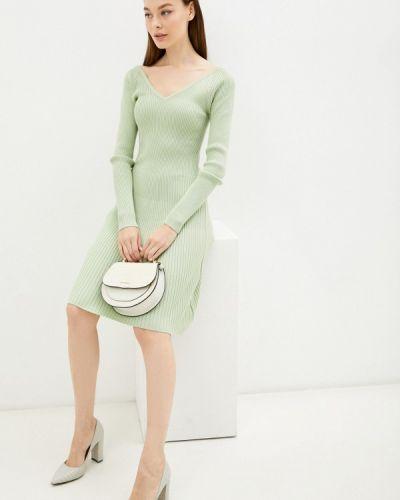 Зеленое вязаное платье Izabella