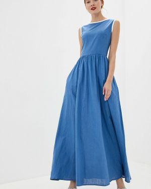 Платье прямое синее Gepur