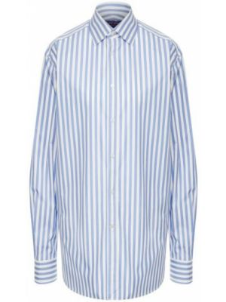 Хлопковая рубашка - синяя Ralph Lauren