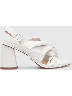 Кожаные босоножки - белые Laura Bellariva