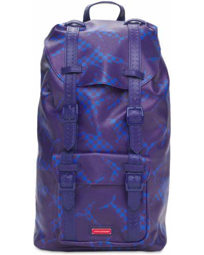 Синий рюкзак с карманами с пряжкой Sprayground