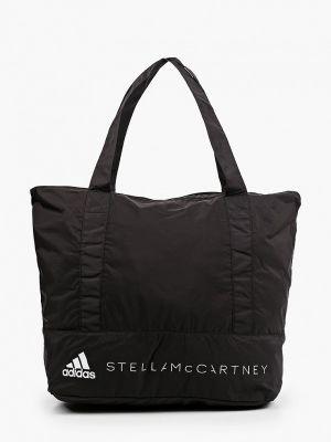 Текстильная черная спортивная сумка Adidas By Stella Mccartney