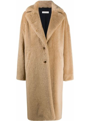С рукавами пальто из мохера на пуговицах с лацканами Inès & Maréchal