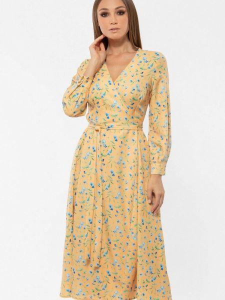 Платье с запахом весеннее Vladi Collection