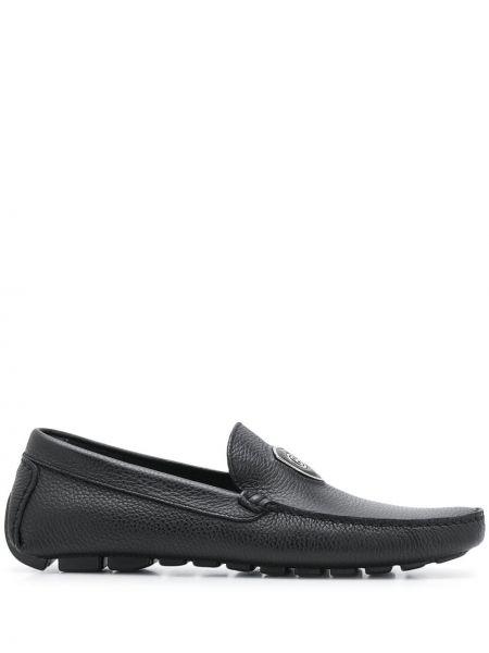 Черные кожаные сандалии Baldinini