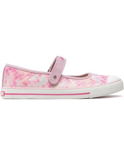Туфли на липучках - розовые Pablosky