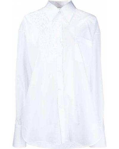 Хлопковая белая классическая рубашка с воротником Ermanno Scervino