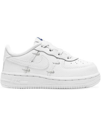 Koronkowa skórzany sneakersy na sznurowadłach Nike