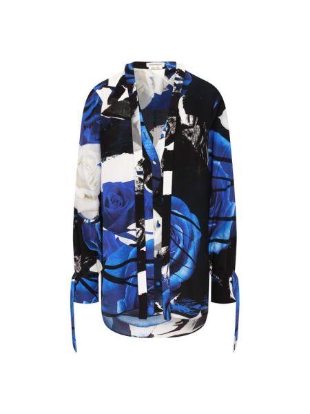 Блузка шелковая черная Alexander Mcqueen