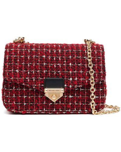 Золотистая красная сумка через плечо на молнии Michael Michael Kors