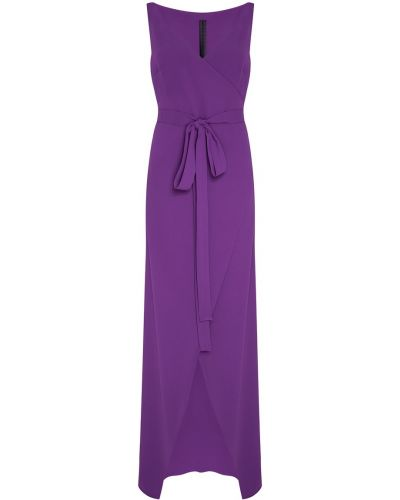Фиолетовое платье с запахом с завязками Gareth Pugh