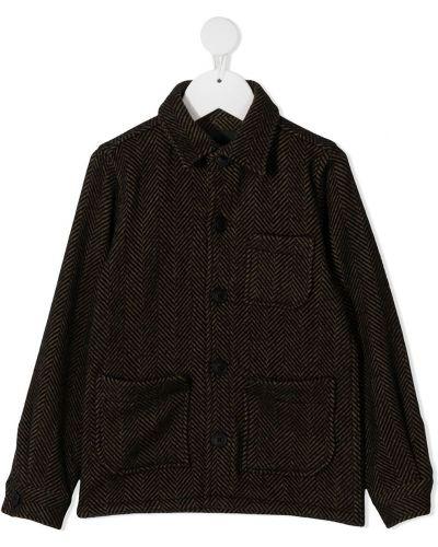 Шерстяное черное пальто классическое с воротником Wolf & Rita