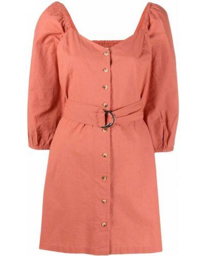 Хлопковое платье мини - розовое Ba&sh