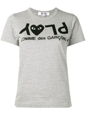 Bawełna prosto koszula z krótkim rękawem okrągły dekolt krótkie rękawy Comme Des Garcons Play