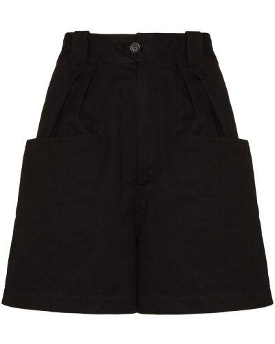 Черные шорты с накладными карманами Isabel Marant étoile