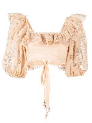 Блузка с короткими рукавами с вышивкой с вырезом Zimmermann