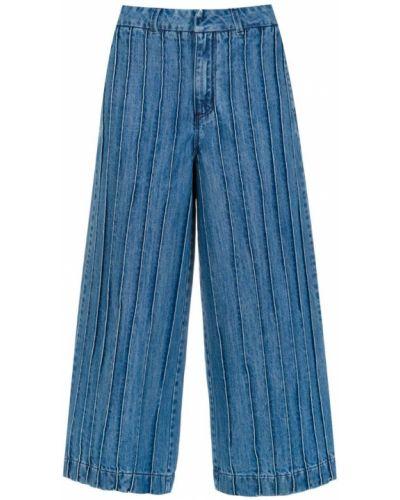 Укороченные широкие джинсы - синие Tufi Duek