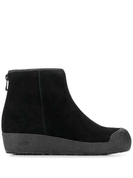Черные кожаные ботинки Bally