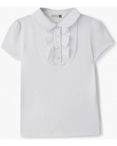 Белая блуза Sela