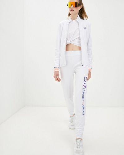 Костюмный белый спортивный костюм Ea7