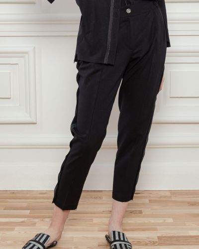 Льняные брюки - черные Dolcedonna