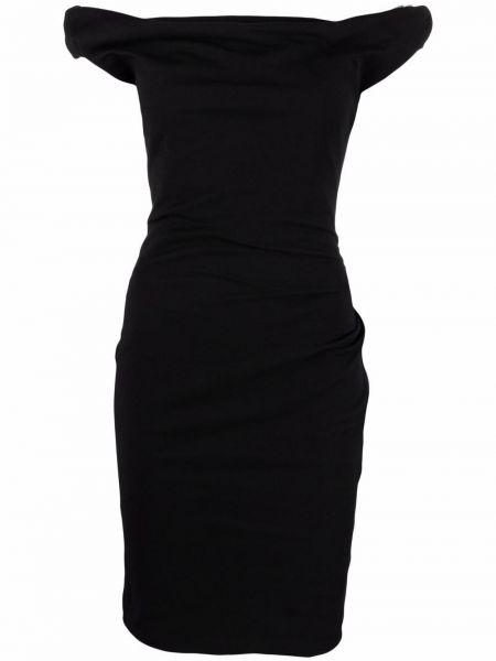 Черное прямое платье Vivienne Westwood