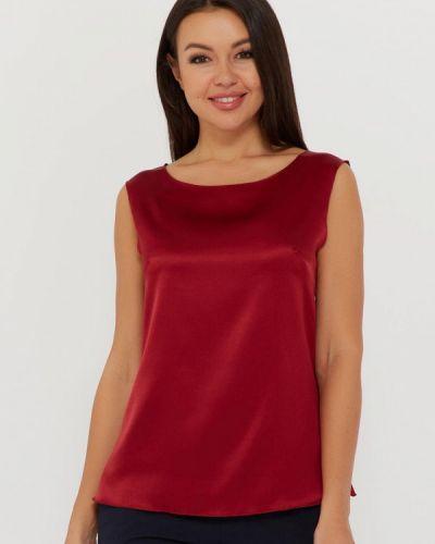 Свободный шелковый красный топ Silk Me