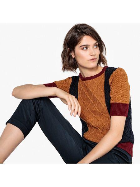 Пуловер в полоску с рисунком La Redoute Collections