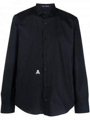 Czarna koszula z długimi rękawami Philipp Plein