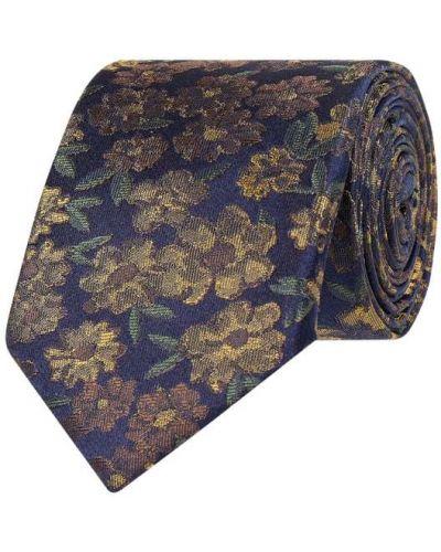Niebieski krawat z jedwabiu Cg - Club Of Gents