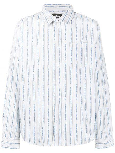Koszula z długim rękawem klasyczna z logo Stussy