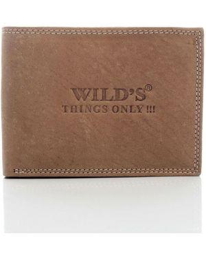 Brązowy portfel skórzany elegancki Wild