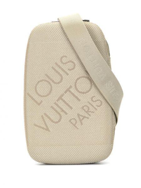 Pasek brązowy brezentowy Louis Vuitton