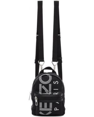 Skórzany plecak z zamkiem błyskawicznym czarny Kenzo