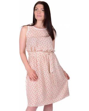 Платье из штапеля бежевое инсантрик