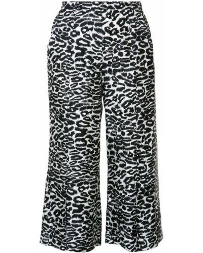 Черные укороченные брюки с поясом Piamita