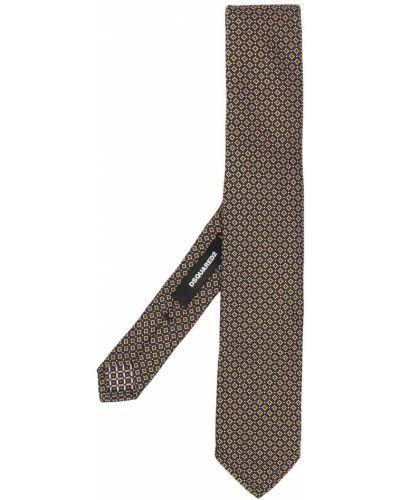 Желтый галстук жаккардовый Dsquared2