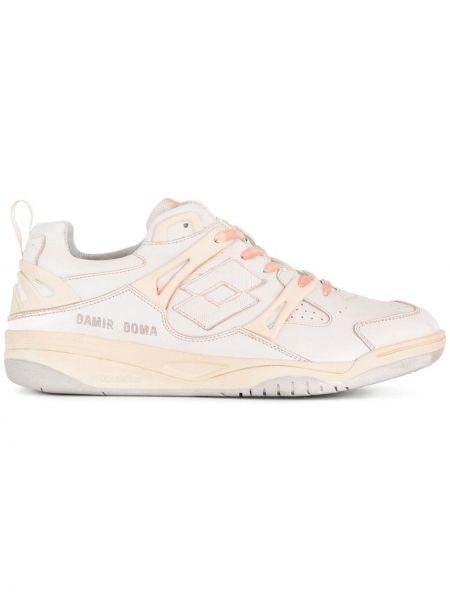 Белые кожаные кроссовки Damir Doma