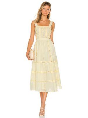 Желтое платье с вышивкой Tularosa