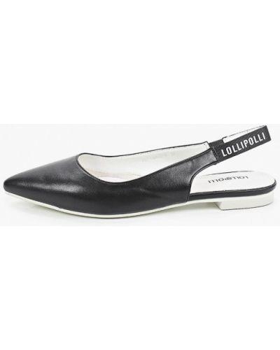 Кожаные черные туфли с открытой пяткой Lolli L Polli