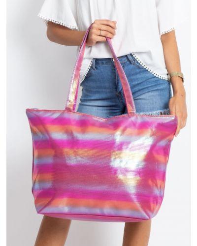 Różowa torebka materiałowa Fashionhunters