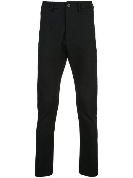 Черные зауженные брюки с поясом бязевые Poème Bohémien