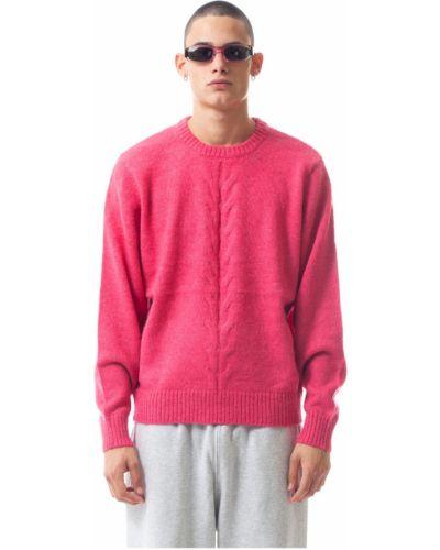 Sweter - różowy Stussy