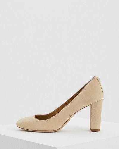 Туфли для офиса замшевые на каблуке Lauren Ralph Lauren